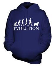 BEARDED COLLIE EVOLUTION OF MAN UNISEX HOODIE MENS WOMENS LADIES DOG HIGHLAND