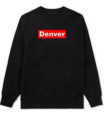 Denver Colorado Red Box Crewneck Sweatshirt