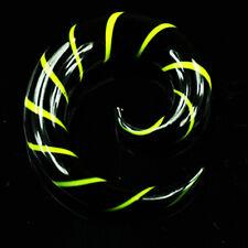 Vero Vetro Lumaca allargamento Nero/Giallo Dilatatore Piercing Orecchio 3-10mm