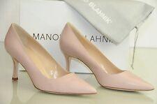 New Manolo Blahnik BB 70 Flesh Nude Pastel Pink Shoes Heels Pumps 40 40.5 42
