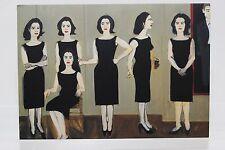 ALEX KATZ: The black dress  Art-Postcard  NEW