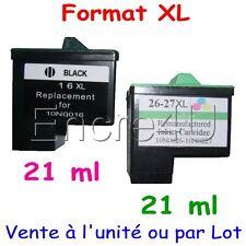Cartouches d'encre compatibles Lexmark 16XL 17XL 26XL 27XL : Noir / Couleurs