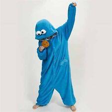 Sesame Street Elmo Cookie Monster Costume Unisex Adult Pajamas Onesie1 Sleepwear