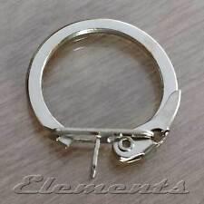 Haute qualité en acier porte-clés avec fermoir de verrouillage conclusions plaqué nickel (bm094)