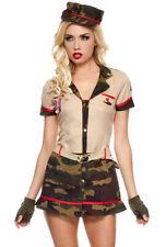 Music legs womens Army camo mini dress costume