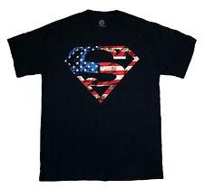 Superman - Usa Flag S - T Shirt S-M-L-Xl-2Xl Brand New - Official T Shirt
