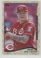 2014 Topps Camo #597 Mat Latos Cincinnati Reds Baseball Card