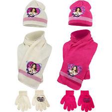 Set 3 pezzi violetta sciarpa cappello e guanti