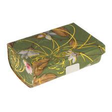 1x Brocade Embroidered Flower Lipstick Case Holder Box w/ Mirror Organizer