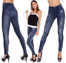 Womens Stretch Leggings Full Length Jeans Imitation Jeggings Sizes S-2XL LS9826