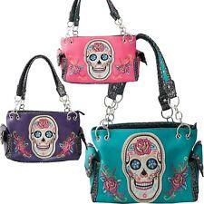 Sugar Skull Roses Day of the Dead Shoulder Bag Concealed Carry Purse Handbag