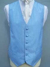 MENS BRAND NEW POWDER BLUE WEDDING DRESS WAISTCOAT 34 38 40 42 44 46 48