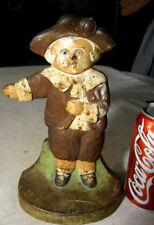 Antique Usa Cast Iron Cjo Judd Pilgrim School Boy Art Statue Sculpture Doorstop