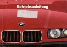 BMW 316 318 320 325 Coupe Betriebsanleitung E36 1992 Bedienungsanleitung 3er  BA