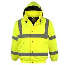 8XL Hi Viz BOMBER WORKEAR PORTWEST JACKET High Visibility Waterproof RAIN COAT