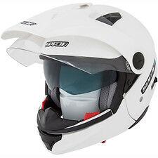 Spada Duo Motorcycle Helmet Duel full face open face white