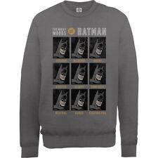 Molti Moods di Batman uomini grigio scuro felpa ponticello DC Comics ufficiali