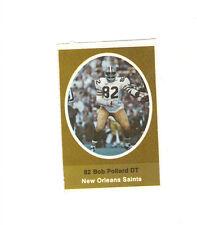 1972 SUNOCO STAMP BOB POLLARD NEW ORLEANS SAINTS X