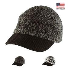 100% Cotton Knit Snowflake Leopard Soft Baseball Cap Hat Casual Men Women Unisex