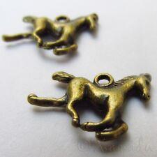Horse Charms - Wholesale Antiqued Bronze Pendants C10082 - 10, 20 Or 50PCs