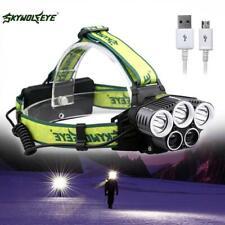 SKYWOLFEYE CREE XMLT6 5X LED 32000 Lm Headlamp Rechargeable USB Hunting Lamp OO