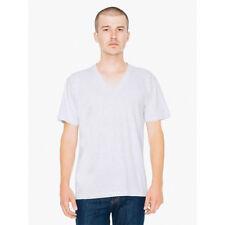 American Apparel Tee Shirt V-Neck Fine Jersey 100% Cotton V Neck T-Shirt 2456
