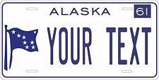 Alaska 1961 License Plate Personalized Custom Car Bike Motorcycle Moped Key Tag