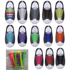 16PCS Shoe Laces No Tie Shoe Laces Elastic Sneaker Shoelaces Shoestrings Running