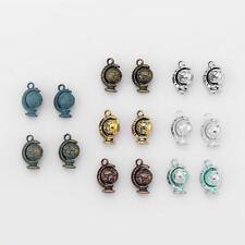 10 globe orientable terre terrestre monde 3D charms pendentifs perles 18mm