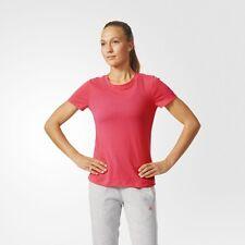 ADIDAS Womens Climacool Aeroknit Performance Tee Shirt  - Top