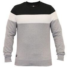 Sudadera Para Hombre Parte Superior Suéter desgastado Bloque Patrón De Lana Forrada De Invierno Nuevo