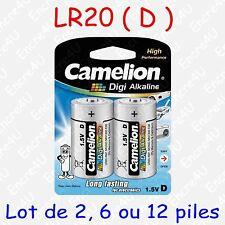 Pile Digi Alcaline type D LR20 R20 MN1300 AM1 E95 1,5V ( lot de 2, 6 ou 12 )