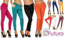 moda estiva pantaloni con bottoni tasca elasticizzati DIMENSIONE 8-12 fk1169