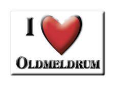 SOUVENIR UK - SCOTLAND MAGNET UNITED KINGDOM I LOVE OLDMELDRUM (ABERDEENSHIRE)