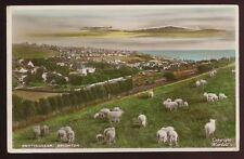 Sussex ROTTINGDEAN Brighton panoramic view 1933 tinted RP PPC