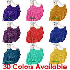 Satin 6 Yard 5 Tiered Gypsy Skirt Belly Dance Tribal Ruffle Jupe Flamenco Roken
