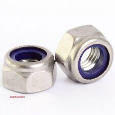 Nylon Lock Nut M3 M4 M5 M6 M8 M10 M12 50-100 Pack DIY fastener fixing nuts bolts