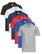 Para Niños y Niñas Infantil Algodón Liso Piqué Polo Camisa Deportiva No Logo
