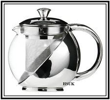 MODREN STAINLESS STEEL GLASS TEAPOT TEA POT WITH TEA LEAF INFUSER 500ml & 700ml