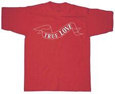 (09377) Fun T-SHIRT S M L XL XXL HAUT avec impression - True Love