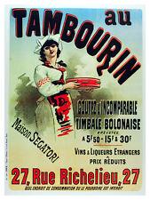 Au Tambourin Vintage POSTER.Graphic Design. Wall Art Decoration.3179