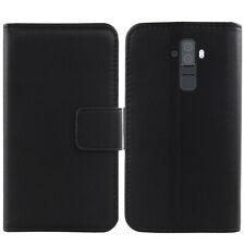 Genuine Real Leather Case Flip Wallet Cover For BlackBerry Evolve / Evolve X