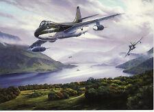 Hawker Hunter Royal Airforce Jet  RAF Lake District  Birthday card Aviation art