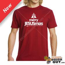 Merry JESUSmas Christmas T-shirt Graphic Tee Christian Jesus Religious Holiday