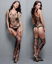 Sexy Design Body Lingerie Bodystocking Dress See through Gartered Strap Bodysuit