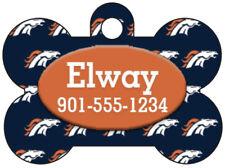 Denver Broncos Custom Pet Id Dog Tag Personalized w/ Name & Number