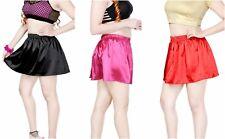 Mini Vestido señoras falda para Mujeres Falda Niñas Suave Satén Micro Mini Falda 6-20
