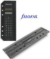 Filofax original Solarrechner für PERSONAL & A5 / Lineal/Locher nur für PERSONAL