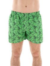 CMP Boardshort Badehose Bermudahose grün Blumenmotiv Tunnelzug Taschen