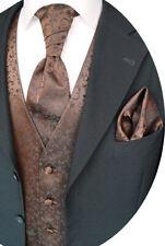 VESTE DE MARIAGE AVEC PLASTRON,Pochette costume et cravate,marron,nr.17.5